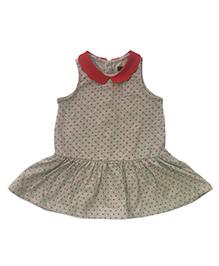 Tickles 4 U Star Printed Collar Dress - Grey