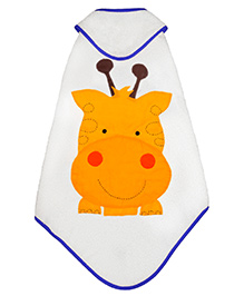 Little Bum Giraffe Printed Organic Towel - Yellow