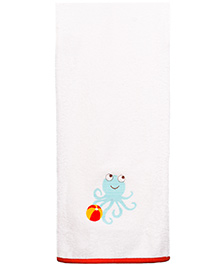 Little Bum Frogs Printed Organic Towel - Multicolor