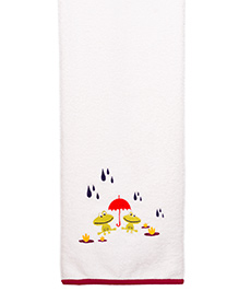 Little Bum Octopus Printed Organic Towel - Multicolor