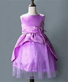 Wonderland Stylish Layered Dress - Purple