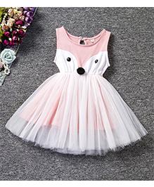 Wonderland Stylish Layered Dress - Pink