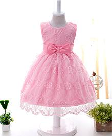 Wonderland Chickenkari Lace Dress - Pink