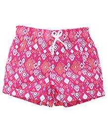 Pumpkin Patch Printed Shorts - Pink