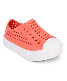 Pumpkin Patch Sneaker Clogs - Coral