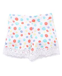 Pumpkin Patch Shorts Dots Print - White Multi Color