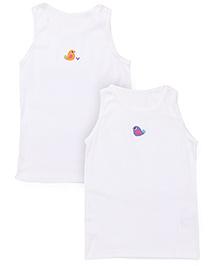 Mothercare Sleeveless Slips Pack of 2 - White