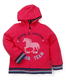 Mothercare Full Sleeves Hooded Sweat Jacket Junior Team Patch - Dark Pink