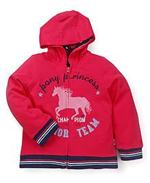 Mothercare Full Sleeves Hooded Sweat Jacket Junior Team Patch - Dark Pink