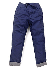 Mothercare Full Length Trouser With Drawstring - Navy Blue