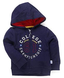 Mothercare Full Sleeves Hooded Sweat Jacket - Dark Blue
