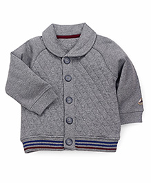 Mothercare Full Sleeves Collar Neck Sweat Jacket - Grey