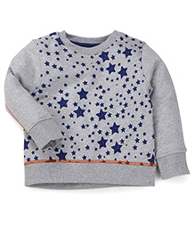 Mothercare Sweatshirt Star Print - Grey And Navy Blue