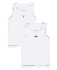Mothercare Sleeveless Vests Multi Print Pack Of 2 - White