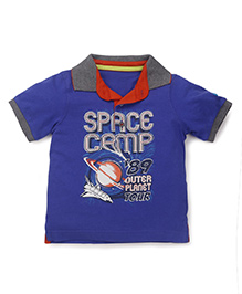 Mothercare Collared Neck T-shirt - Blue