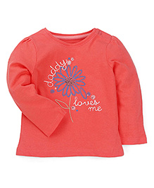 Mothercare Full Sleeves Top Floral Print - Coral