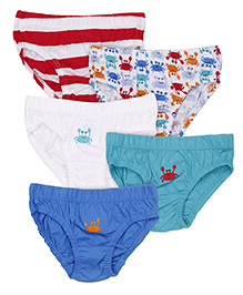 Mothercare Printed Briefs Pack Of 5 - Multicolor