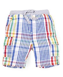 Mothercare Checks Shorts - Multi Color