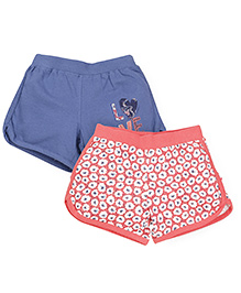 Mothercare Shorts Pack of 2 - Blue Peach