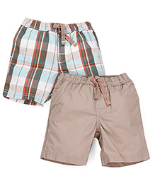 Mothercare Shorts Pack of 2 - Multi Color