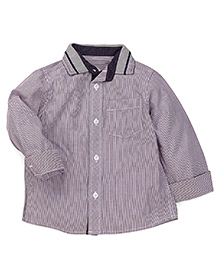 Mothercare Full Sleeves Stripes Shirt - Fig