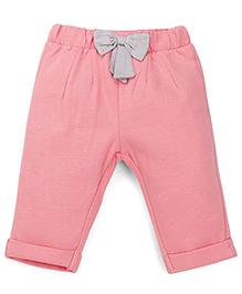 Mothercare Pants With Elasticated Waist And Bow - Pink