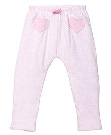 Mothercare Full Length Leggings Heart Patch - Light Pink