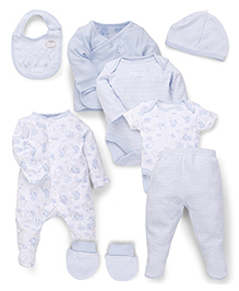 Mothercare Baby Clothing Set Pack of 8 - Light Blue
