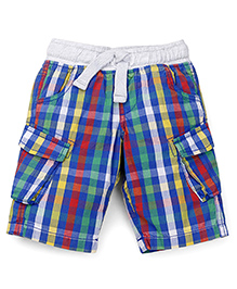 Mothercare Checks Shorts With Elasticated Waist - Multicolor