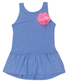 Mothercare Sleeveless Top With Floral Applique - Blue