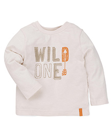 Mothercare Full Sleeves T-Shirt Printed - Off White