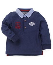 Mothercare Full Sleeves T-Shirt With Patch Work - Navy