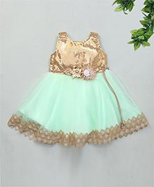 Kaia Fashion Party Wear Dress - Sea Green