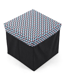 Baby Storage Box With Print - Black Blue