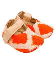 Eternz Handcrafted Tie & Dye Printed Boots - Orange & Beige