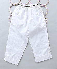 Popsicles Roll Up Pants - White
