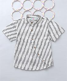 Popsicles Ikat Printed Shirt - White