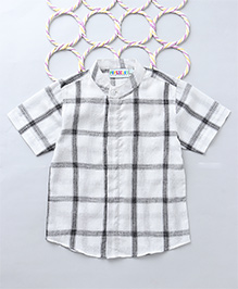 Popsicles Yarn Dyed Checkered Shirt - Off White