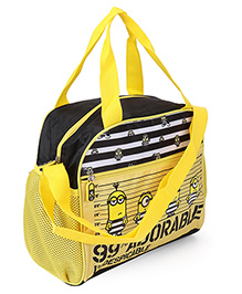 Minions Shoulder Bag Black And Yellow - 9 inch