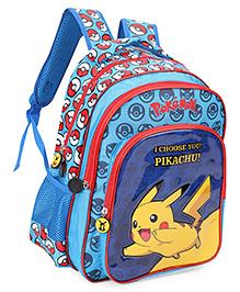 Pokemon I Choose You Pikachu Backpack Blue - 13 Inches