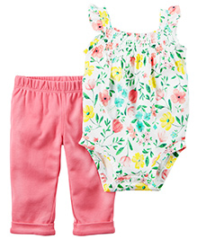 Carter's 2-Piece Bodysuit & Pant Set - White Pink