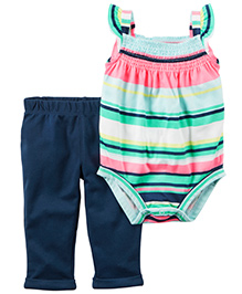 Carter's 2-Piece Bodysuit & Pant Set - Multicolour Navy Blue