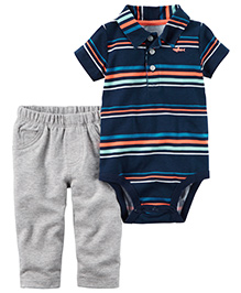 Carter's 2-Piece Bodysuit & Pant Set - Navy Blue Grey