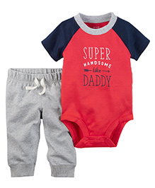 Carter's 2-Piece Bodysuit & Pant Set - Red Grey