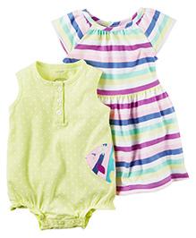 Carter's 2-Pack Bodysuit & Dress Set - Yellow Multicolor