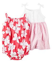 Carter's 2-Pack Bodysuit & Dress Set - Red Pink