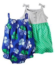 Carter's 2-Pack Bodysuit & Dress Set - Blue Green Grey
