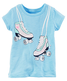 Carter's Rollerskate Graphic Tee - Light Blue