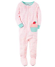 Carter's Infant Sleepsuit - Pink Green
