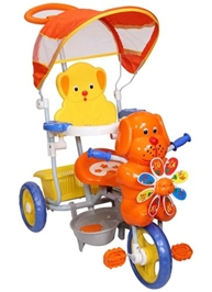 Mee Mee Baby Tricycle with Canopy - Orange